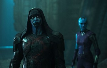 GOTG's Ronan The Accuser (Lee Pace) + Nebula (Karen Gillan)