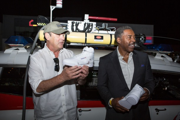 Los Angeles, CA Ð October 25, 2017 (L to R) Dan Aykroyd and Ernie Hudson seen at the GHOSTBUSTERS x Reebok Launch Party at the BAIT store in Melrose.