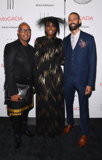 Emil Wilbekin, Tai Beauchamp, and Director of MoCADA James Bartlett (Photo by Dave Kotinsky)