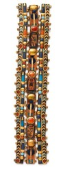 king-tut-treasures-of-the-golden-pharaoh-Four Horizontal and Two Vertical Gold Mummy Bands Inlaid with Carnelian Lapis and Glass_rgb
